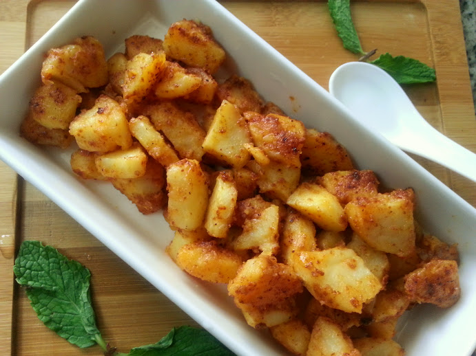 Spicy Potato Fry- Spicy Aloo Fry - Fas Kitchen