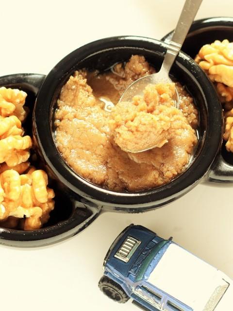 Homemade Walnut Butter with Honey