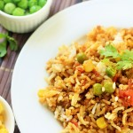 Keema Matar with Corn Pulao