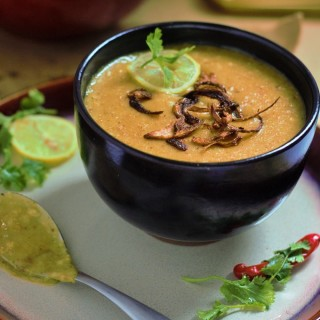 Easy Mutton Haleem Recipe in Pressure Cooker - A quick to make mutton haleem recipe which is easy and quick to make and yet so delicious. It takes so less time compared to the traditional method that you will never go back to cooking it for long hours once you taste this version.