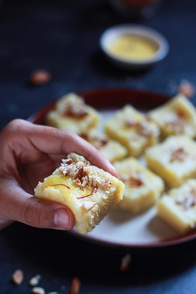 Simple Milk Powder Burfi Recipe Halaal Recipes