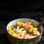 Corn Chaat recipe, Fried Corn Chaat recipe