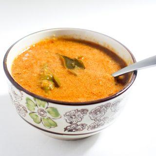 Chettinad Onion Kulambu in a bowl
