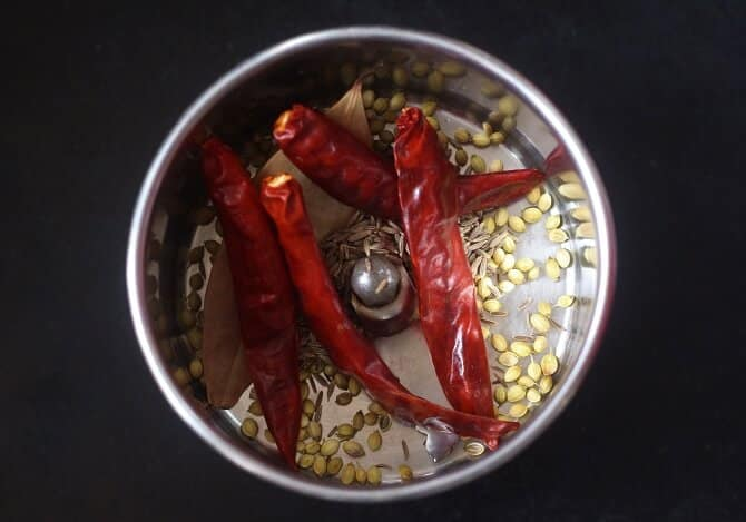 spices in mixie