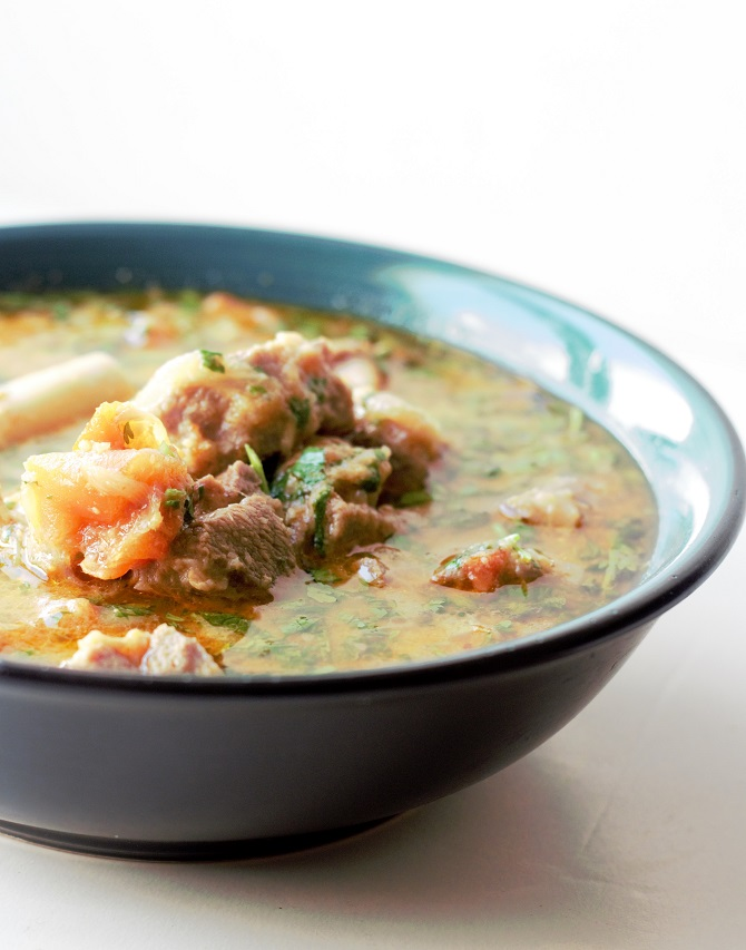 Hyderabadi Mutton Shorba recipe is a delightful soup which is absolutely tasty. Made with bone-in mutton pieces, this is a perfect dish to be served at any party.