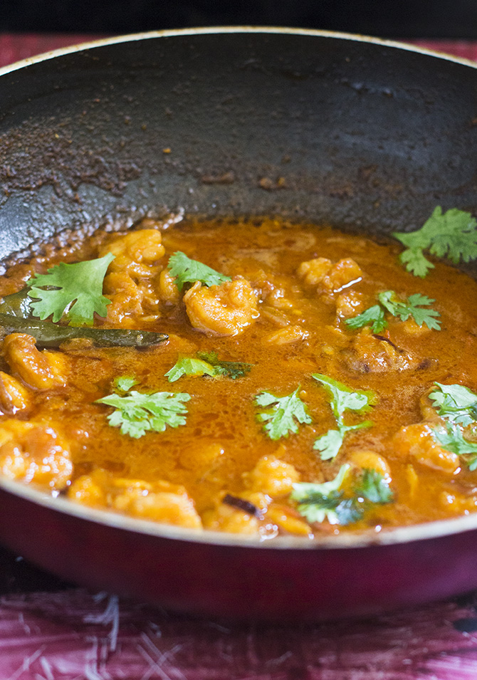 Prawn Masala Curry is an incredibly tasty and an easy recipe.  The spices used in this dish are easily available.