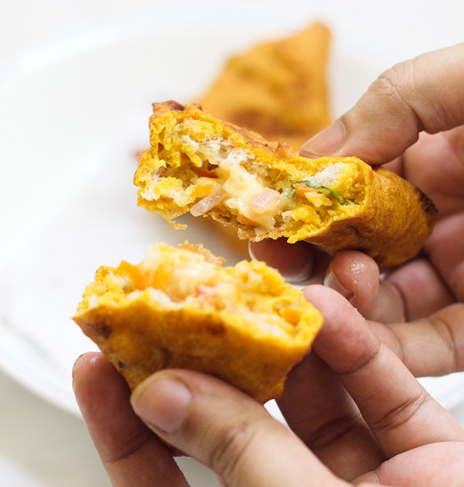 Stuffed Bread Pakoda recipe is a delicious and tasty bread recipe that is very different from others. You will find an amazing infusion of flavors in this dish.