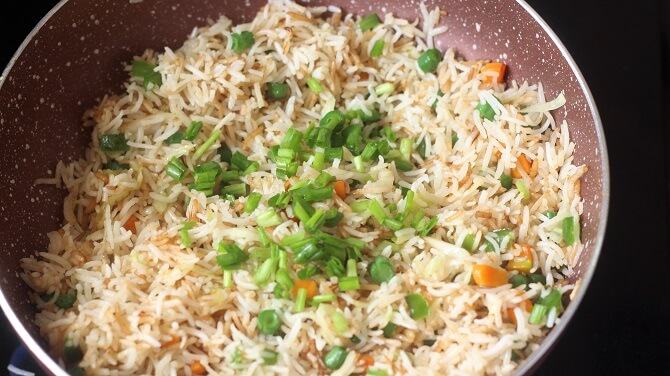 how to prepare veg fried rice