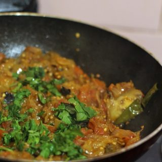 Baingan Bharta Recipe is a delicious side dish made with brinjal / eggplant. For me, biryani is just not complete without it.