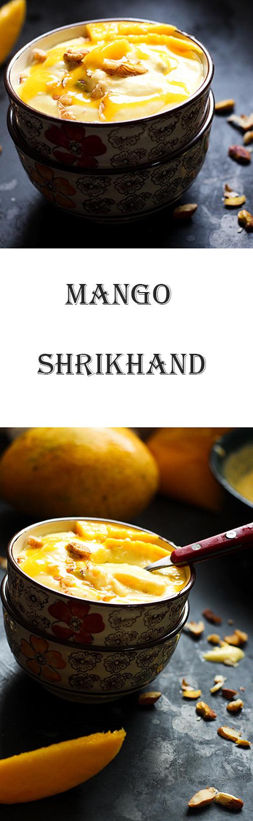 Mango Shrikhand or amrakhand recipe is a delicious dessert made with yogurt and mango.