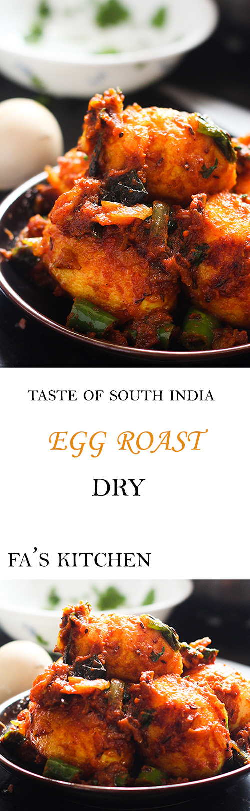 Egg roast dry is a delicious and simple dish full of flavors. This tasty egg recipe is a delight to serve to guests.