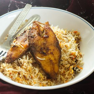 Fish Biryani recipe is a very simple biryani recipe that gets ready in a jiffy. It is pretty much easy to make unlike other biryani recipes.
